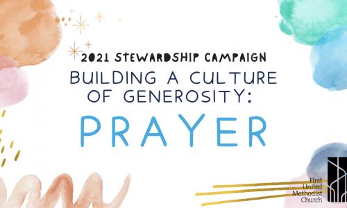 Stewardship Campaign 2021 prayer 10 10 21